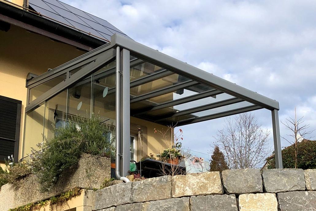 Pergola toiture en verre - Erregi